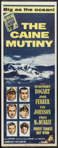 """Movie Posters:War, The Caine Mutiny (Columbia, R-1959). Insert (14"""" X 36""""). War...."""