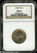 Washington Quarters: , 1936-D 25C MS64 NGC....