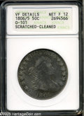 Early Half Dollars: , 1806/5 50C--Scratched, Cleaned--ANACS. VF Details, Net Fine 12....