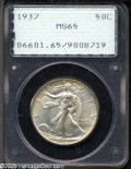 Walking Liberty Half Dollars: , 1937 50C MS65 PCGS....