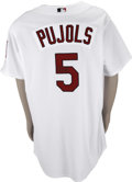 Autographs:Jerseys, Albert Pujols Signed Jersey. In each of his first seven years inthe Majors, the lowest batting average that the great slugg...