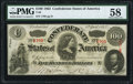 Confederate Notes:1863 Issues, T56 $100 1863 PF-2 Cr. 404 PMG Choice About Uncirculated 58.. ...