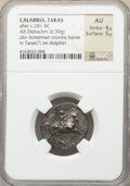 Ancients:Greek, Ancients: CALABRIA. Tarentum. Ca. 281-240 BC. AR didrachm or stater(22mm, 6.59 gm, 2h). NGC AU 4/5 - 5/5....