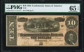 Confederate Notes:1864 Issues, T68 $10 1864 PF-44 Cr. 552 PMG Gem Uncirculated 65 EPQ.. ...