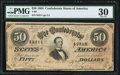 Confederate Notes:1864 Issues, T66 $50 1864 PF-3 Cr. 497 PMG Very Fine 30.. ...