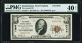 National Bank Notes:West Virginia, Buckhannon, WV - $10 1929 Ty. 1 The Central NB Ch. # 13646 PMG Extremely Fine 40 EPQ.. ...