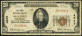 National Bank Notes:West Virginia, Bluefield, WV - $20 1929 Ty. 1 The First NB Ch. # 4643 Very Good.....