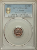 Canada:Quebec, Canada: Anticosti Island copper Pattern 1/8 Penny Token 1870 MS65 Red and Brown PCGS,...