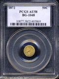 California Fractional Gold: , 1872 50C Indian Round 50 Cents, BG-1048, Low R.4, AU58 PCGS....
