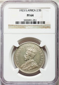 South Africa, South Africa: George V Proof 2-1/2 Shillings 1923 PR64 NGC,...