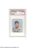 Autographs:Sports Cards, 1950 Bowman Leo Durocher #220, Signed. VG-EX card is signed in strong ink and slabbed by PSA. LOA from Steve Grad & Zach ...