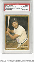 Autographs:Sports Cards, 1962 Topps Elston Howard #400, Signed. VG card is signed in strong ink and slabbed by PSA. LOA from Steve Grad & Zach Rul...