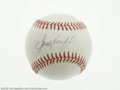 Autographs:Baseballs, Sandy Koufax Single Signed Baseball. Perfect blue ink sweet spotsignature on an ONL (White) baseball. LOA from Steve Gra...