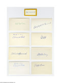 """Autographs:Index Cards, Hall of Famers Signed Index Cards Lot of 11. Perfect blue inksignatures from Cooperstown. On blank side of 3x5"""" index car..."""