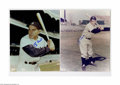 """Autographs:Photos, Yankees Hall of Famers Signed Photographs Lot of 5. Perfect blue sharpie signature on 8x10"""" photographs. Berra (2), Ford, ..."""
