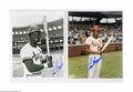 "Autographs:Photos, Cardinals Hall of Famers Signed Photographs Lot of 7. Perfect bluesharpie signature on 8x10"" photographs. Brock (2), Gibs..."