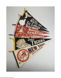 Baseball Collectibles:Others, Vintage Major League Baseball Pennants Lot of 11. 1) 1967Cardinals. Damage lower left. G-VG. 2) 1969 Senators. Tack ho...