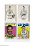 Basketball Cards:Lots, 1961-62 Essex Meats & 1971-72 Topps Basketball Lot of 4. EssexMeats: John McCarthy and Al Ferrari. Topps: Dave DeBusscher...