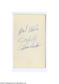 "Basketball Collectibles:Others, Wilt Chamberlain Signed Index Card. Perfect blue ink signature on the unlined side of a 3x5"" index card. LOA from Steve G..."
