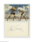 Boxing Collectibles:Autographs, Jack Dempsey & Gene Tunney Autographs. Remembered always fortheir Long Count bout, these two legendary pugilists offer per...