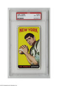 Football Cards:Singles (1960-1969), 1965 Topps Joe Namath #122 PSA VG-EX 4. Broadway Joe's rookie! Color and gloss are very nice, as is centering. Just the t...