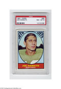 Football Cards:Singles (1960-1969), 1967 Topps Joe Namath #98 PSA NM-MT 8. High-grade specimen dates from Namath's most glorious season....