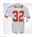 Football Collectibles:Uniforms, Marcus Allen Signed Jersey. Perfect black sharpie signature appears on the verso of a Kansas City Chiefs jersey identical t...