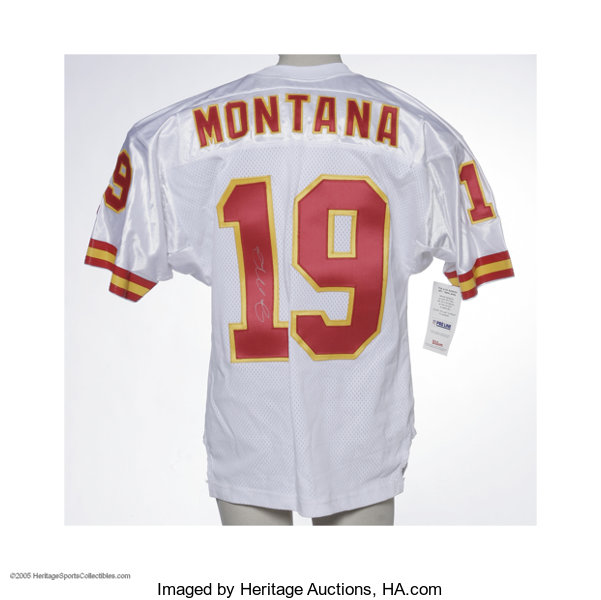 new product 26bfa 1dd42 Joe Montana Signed Jersey. High-quality replica jersey is ...