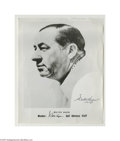 Golf Collectibles:Autographs, Walter Hagen Signed Photograph. Along with Bobby Jones, one of thegreat early names of golf. Hagen's black ink signature ...