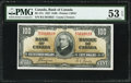 Canadian Currency, BC-27c 100 Dollars 2.1.1937 PMG About Uncirculated 53 EPQ.. ...