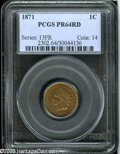 Proof Indian Cents: , 1871 1C PR64 Red PCGS....