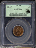 Proof Indian Cents: , 1897 1C PR65 Red PCGS....