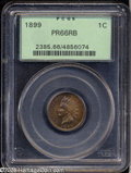 Proof Indian Cents: , 1899 1C PR66 Red and Brown PCGS....