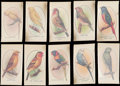Non-Sport Cards:Sets, 1932 Aviary Cage Bird Transfers Complete Set (50). ...