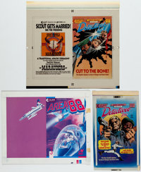 Gene Colan Detectives, Inc.: A Terror of Dying Dreams Cover Production Transparencies and Additional M... (Total: 3 Item...
