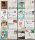 Autographs:Letters, Sports Greats Signed First Day Cover & Postcard Lot of 8....(Total: 8 items)