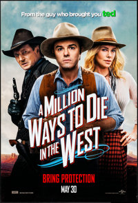 """A Million Ways to Die in the West & Other Lot (Universal, 2014) Rolled, Very Fine. One Sheet (27"""" X 40""""..."""