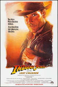 "Indiana Jones and the Last Crusade (Paramount, 1989) Rolled, Very Fine-. One Sheet (27"" X 40.5""). SS, Advance..."