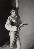 Photographs:Gelatin Silver, Lucien Clergue (French, 1934-2014). Violinist, Arles, 1954. Gelatin silver, 1983. 10-3/4 x 7-5/8 inches (27.3 x 19.4 cm)...
