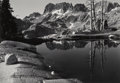 Photographs:Gelatin Silver, Philip Hyde (American, 1921-2006). The Minarets, Sierra Nevada, California, 1950. Gelatin silver, 1985. 9-1/2 x 13-1/2 i...