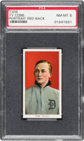 Baseball Cards:Singles (Pre-1930), 1909-11 T206 Sweet Caporal Ty Cobb Portrait Red Background PSA NM-MT 8....