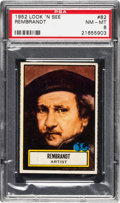Non-Sport Cards:General, 1952 Topps Look 'N See Rembrandt #82 PSA NM-MT 8 - Only Two Higher....