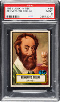 Non-Sport Cards:General, 1952 Topps Look 'N See Benvenuto Cellini #86 PSA Mint 9 - Pop One,None Higher! ...