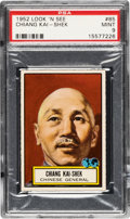 Non-Sport Cards:General, 1952 Topps Look 'N See Chiang Kai-Shek #85 PSA Mint 9 - Pop Five, None Higher. ...