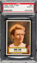 Non-Sport Cards:General, 1952 Topps Look 'N See Marie Curie #87 PSA Mint 9 - None Higher....