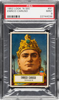 Non-Sport Cards:General, 1952 Topps Look 'N See Enrico Caruso #91 PSA Mint 9 - Pop Two, NoneHigher. ...