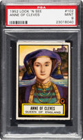 Non-Sport Cards:General, 1952 Topps Look 'N See Anne of Cleves #102 PSA Mint 9 - Pop Two,None Higher. ...