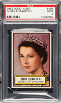 Non-Sport Cards:General, 1952 Topps Look 'N See Queen Elizabeth II #104 PSA Mint 9 - PopThree, None Higher. ...
