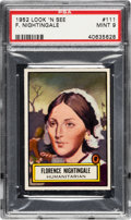 Non-Sport Cards:General, 1952 Topps Look 'N See F. Nightingale #111 PSA Mint 9 - None Higher. ...