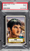 Non-Sport Cards:General, 1952 Topps Look 'N See Nero #110 PSA Mint 9 - None Higher. ...